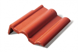 Left- end roof tile